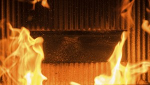 counterfeit communications cables on fire in a Steiner Tunnel