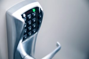 access control system upgrade for door keypad