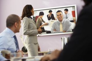 video teleconferencing with fiber technology